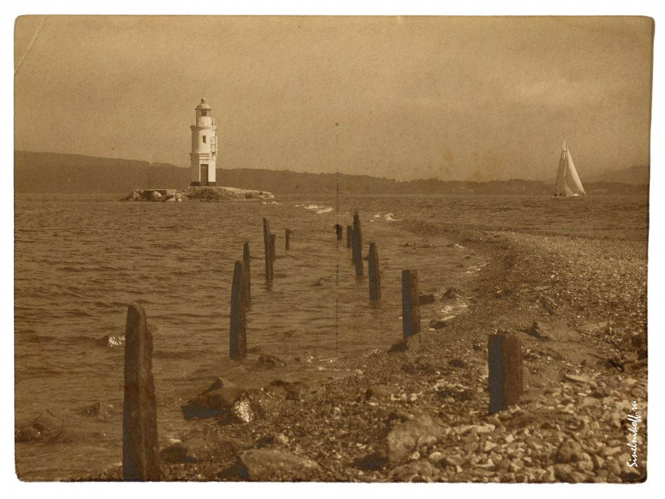 Lighthouse, old photography